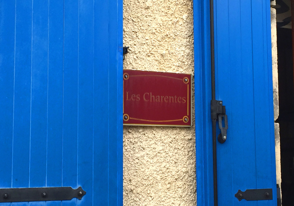 La Charente Gallery Image / Outside Name Plate shown on the outside wall of the holiday gite