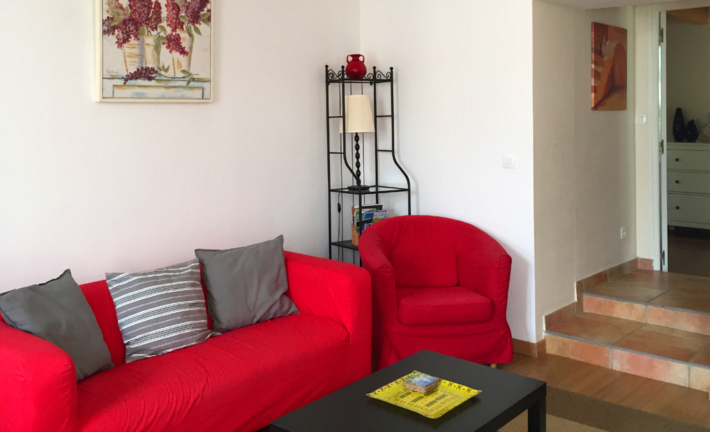 Le Cognac French Holiday Gite - Sleeps 5 / image shows Living Room of Le Cognac