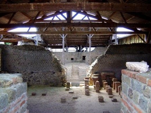 Cassinomagus Roman Archeological Site at Chassenon The Charente South West France