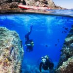 Family Scuba diving in South West France
